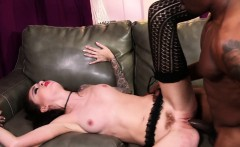 Bendy slut licks cum feet