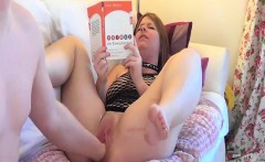 Brutally fisting and dildo fucking his GFs holes