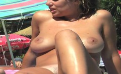 at the nude beach with a hidden cam