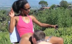 White slave eats out her ebony mistress