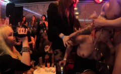 Foxy babes get nailed in the club