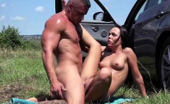 slutty angelina wild fucked in the car