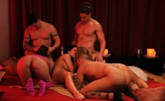 bunch of newly couples enjoyed swinging and erotic games