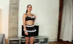 frenchmaid babe with bigtits assfucked by bbc