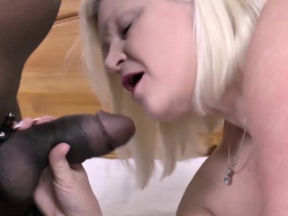 Blonde GILF vs BBC