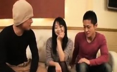 Sexy slim Asian chick finds the pleasure she seeks between
