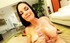 Gorgeous milf tittyfucked and jizzed on tits