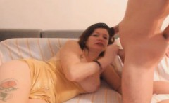 hot milf gets cum on her mouth after anal sex