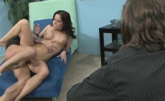sexy milf takes cock in front of her husband