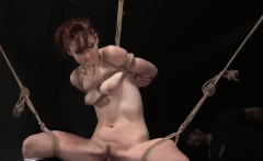 redhead bdsm sub dominated by black master