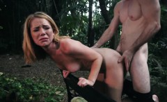 Strapon pussy punishment and extreme sloppy face fuck first