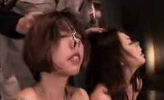 two kinky japanese girls in lingerie play out their bondage
