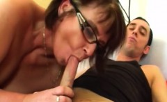busty granny jana takes cock in mouth and cunt