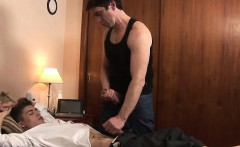 Hung daddy gives lovely gay twink what he needs