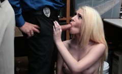 Teen shoplifter got caught and fucked hard from behind