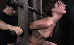 Custom bdsm device makes her immobilized