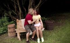 Sensual redhead with big boobs gives a remarkable blowjob