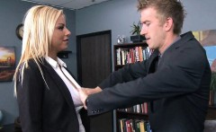 Tattooed Blonde Slut in the Office