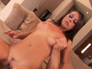 Sexy Penny rides on a fat shaft