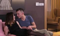 Brunette Milf in stockings pounding