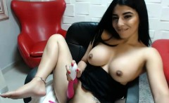 Hot Black Haired Teen Hottie Amazing Cam Show