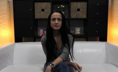 Busty Anal Queen Was Born on The White Couch