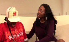 slutty big titted ebony babe gets her sweet
