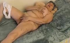 Omapass Hot Granny Masturbation Compilation