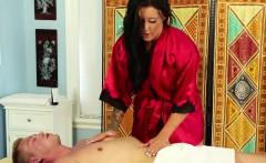 Tattooed masseuse sucking