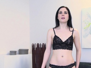 Fake agent recording sex with brunette babe