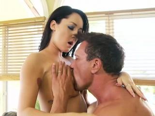 Sabrina Banks receives an amazing pounding