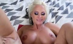 Blonde milf with big tits Alena Croft takes big dick