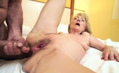 Blonde grandma pounded