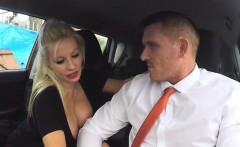 Busty Client Michelle Thorne Blows Hung Driving Examiner