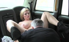 fake taxi huge natural tits on blonde model rims the driver