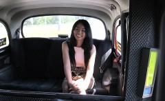 Fake taxi driver bangs petite Thai babe