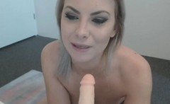 Perfect Big Ass Blonde Fucks Close Up Wet Shaved Pussy