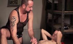 Sexy twink blown and masturbated by big dick daddy Paris Nio
