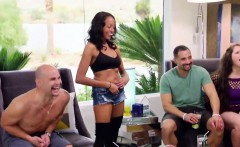Weird swinger couple enjoys fucking with other couples