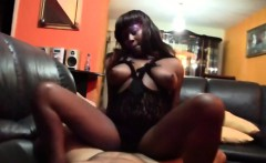 super sexy busty ebony teen is getting the casting couch