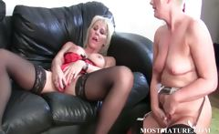 Bitchy blonde lesbo dildoes mature cunt