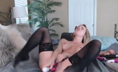 Blonde Milf Loves To Fucking Her Pussy