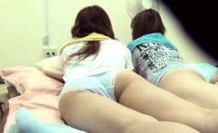 Japanese Babe Pees On Bed