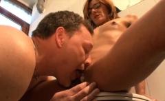 slender german milf fucked in shower