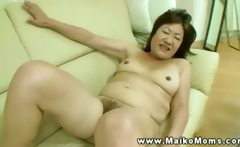 This asian milf starts off slowly but will finish strong on