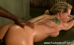 Secured slut screaming at the dungeon