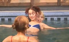 Three belarusian teenies in the pool