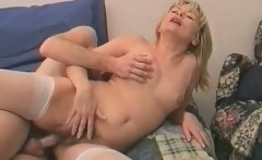 Horny mature blonde slut gets that hairy