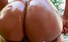 Afro Black Oiled Wet Busty Slut Fucking Outdoor