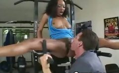 Awesome Black Bad Girl Licked In Gym